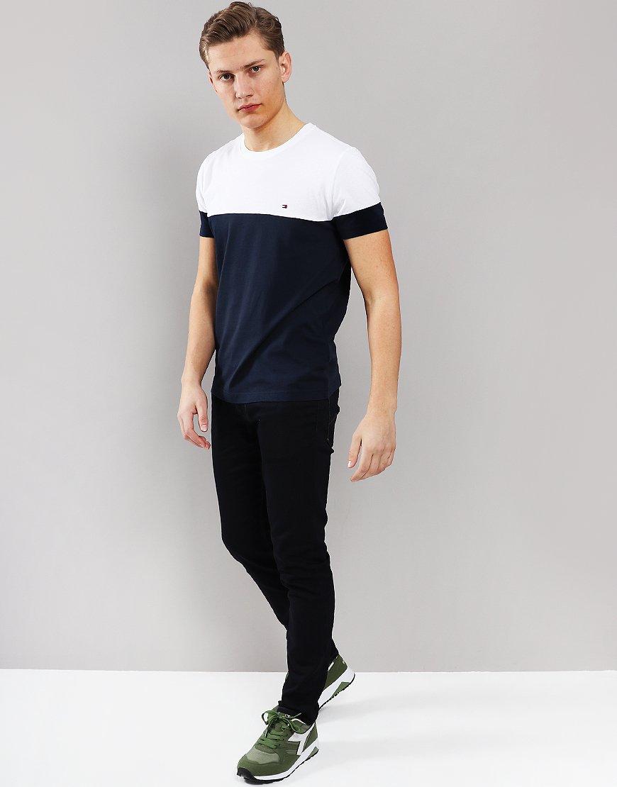 4139db44 Tommy Hilfiger Colour Block T-Shirt Sky Captain/Bright White ...