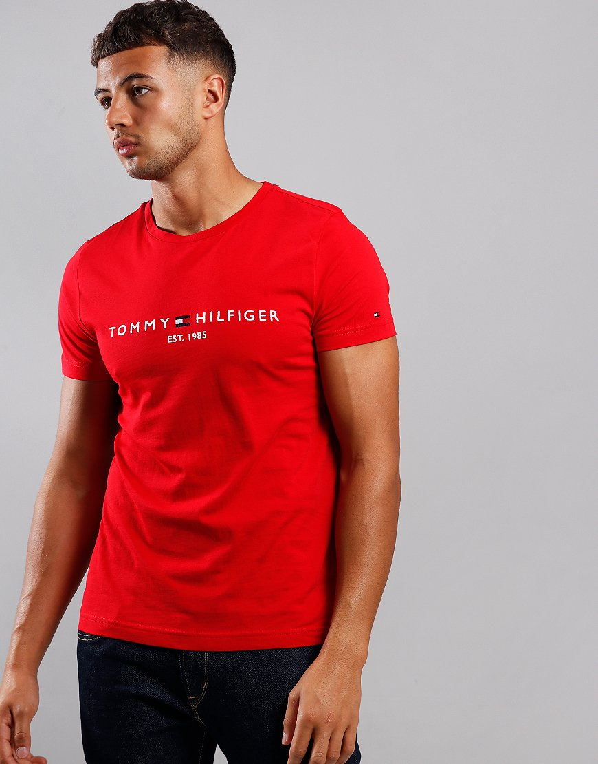 Tommy Hilfiger Core Tommy T-Shirt Haute Red