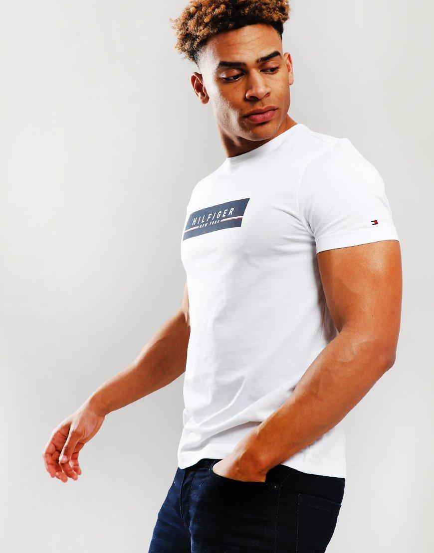 c30a2c3e Tommy Hilfiger Corp Box T-Shirt Bright White - Terraces Menswear
