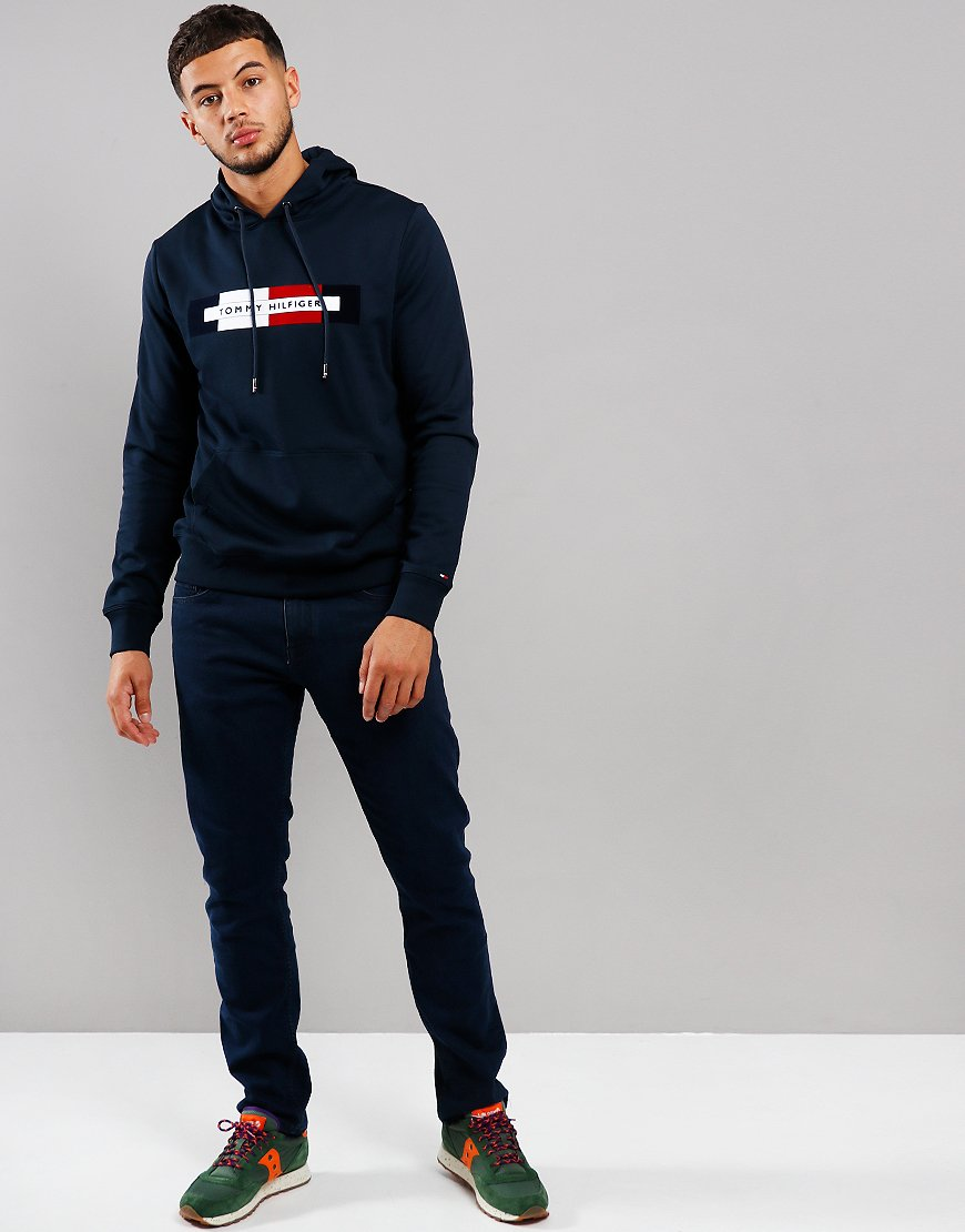 Tommy Hilfiger Logo Hoodie Sky Captain