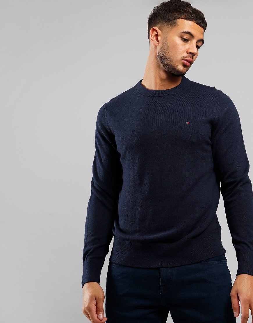 Tommy Hilfiger Pima Crew Neck Knit Sky Captain