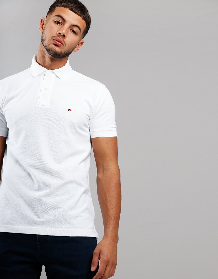 Tommy Hilfiger Placket Polo Shirt Bright White
