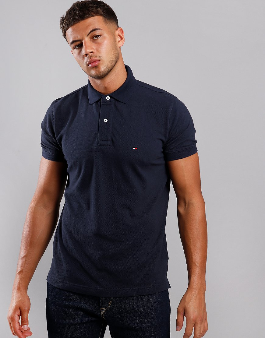Tommy Hilfiger Placket Polo Shirt Sky Captain