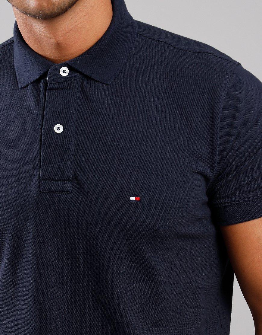 Tommy Hilfiger Placket Polo Shirt Sky Captain