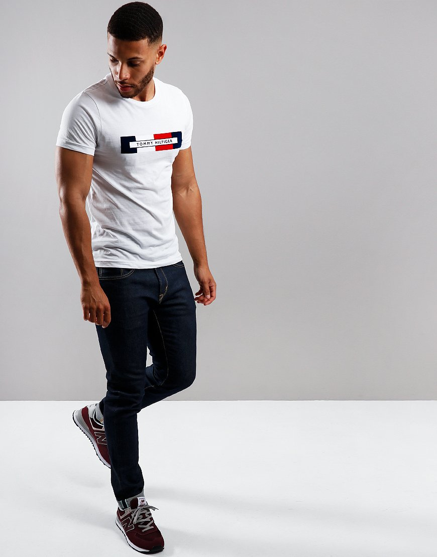 Tommy Hilfiger RWB Logo T-Shirt Bright White