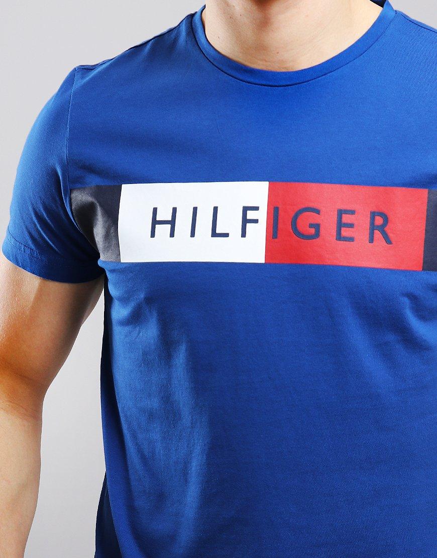 1d9695ce1 Tommy Hilfiger Stripe Hilfiger T-shirt Blue Quartz - Terraces Menswear