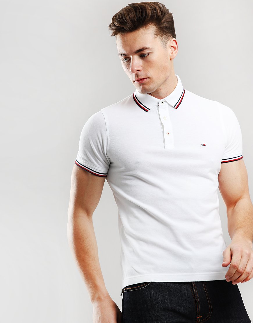 Tommy Hilfiger Tipped Polo Shirt Bright White