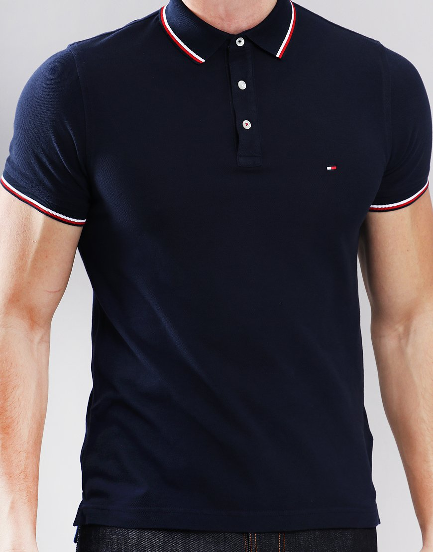 fd4900835 Tommy Hilfiger Tipped Polo Shirt Navy Blazer - Terraces Menswear