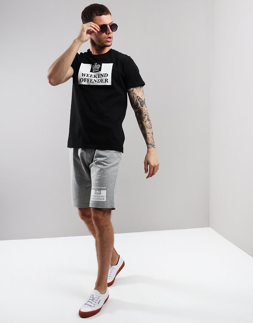 Weekend Offender Action Sweat Shorts Grey Marl