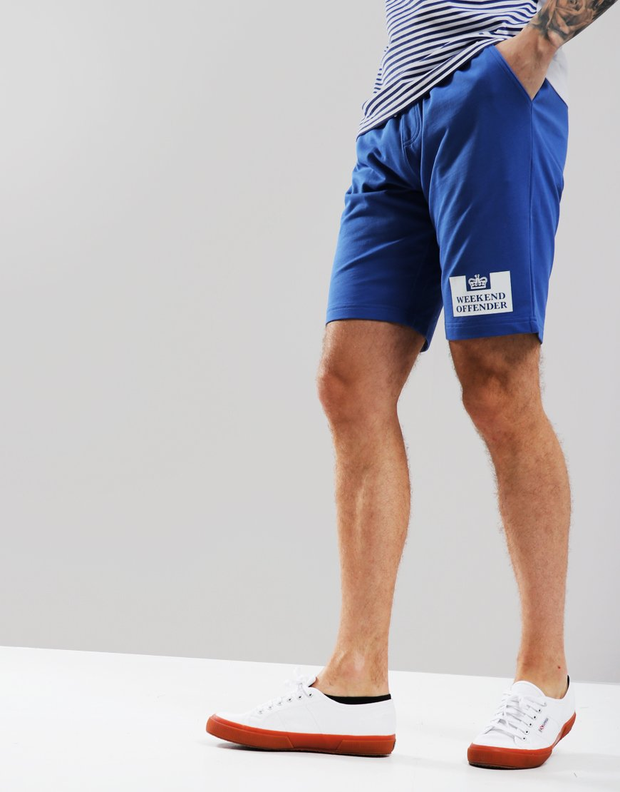 e794d40894 Weekend Offender Action Sweat Shorts Reef Blue