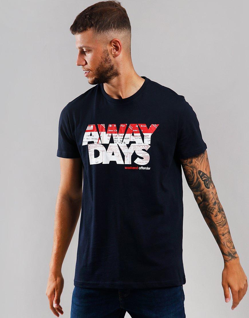 Weekend Offender Away Days T-Shirt Navy