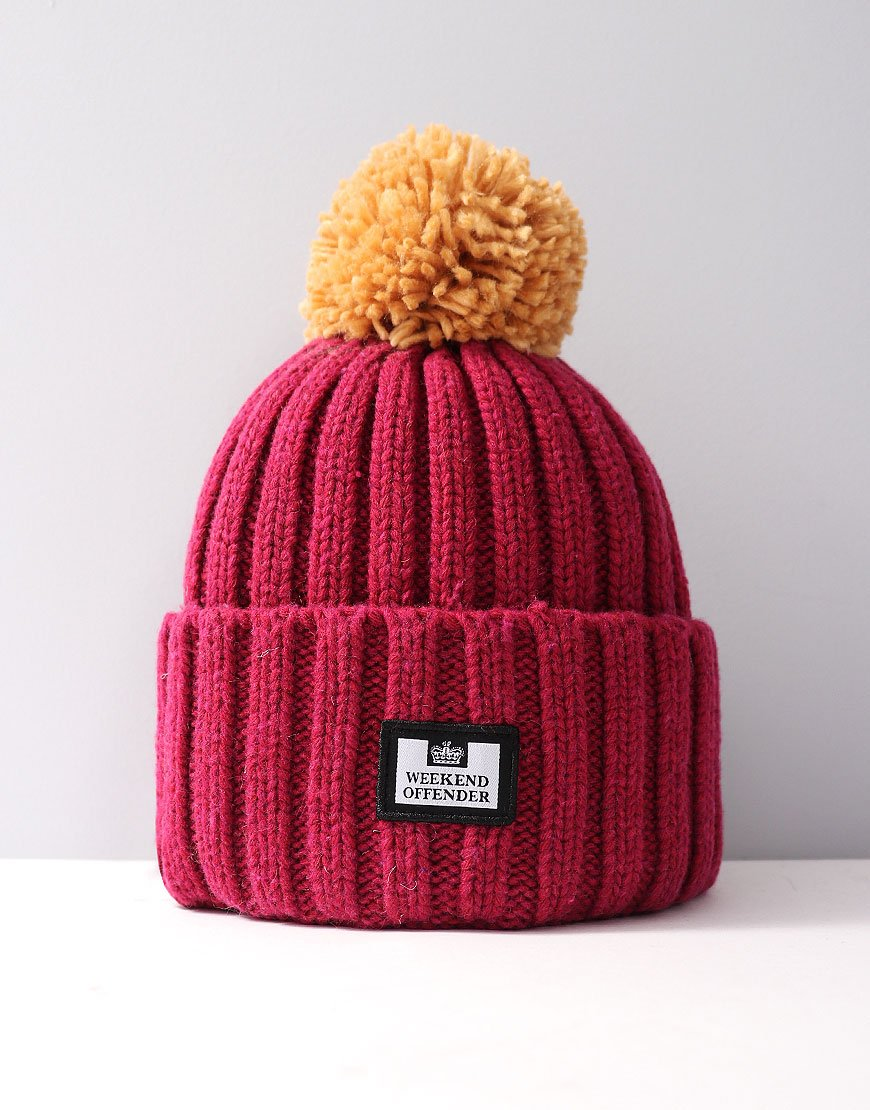 Weekend Offender Bambesi Bobble Hat Burgundy