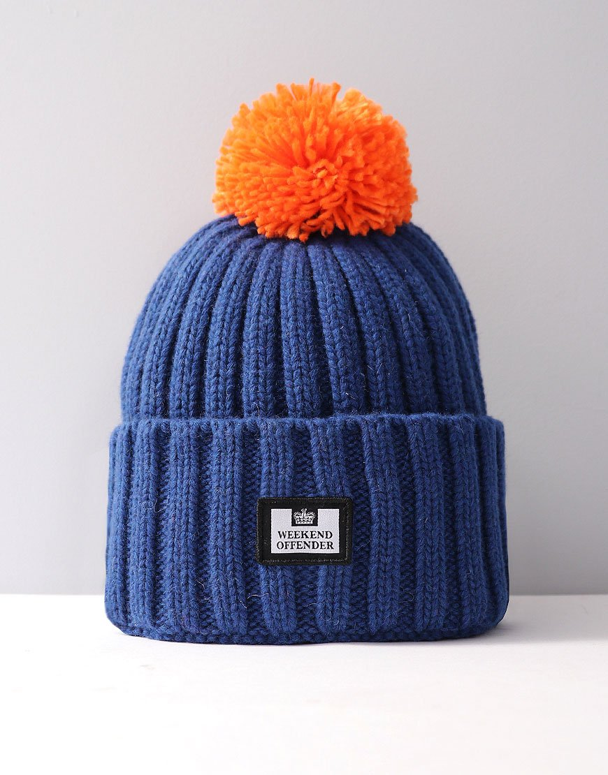 Weekend Offender Bambesi Bobble Hat Electric - Terraces Menswear ac5cf210822