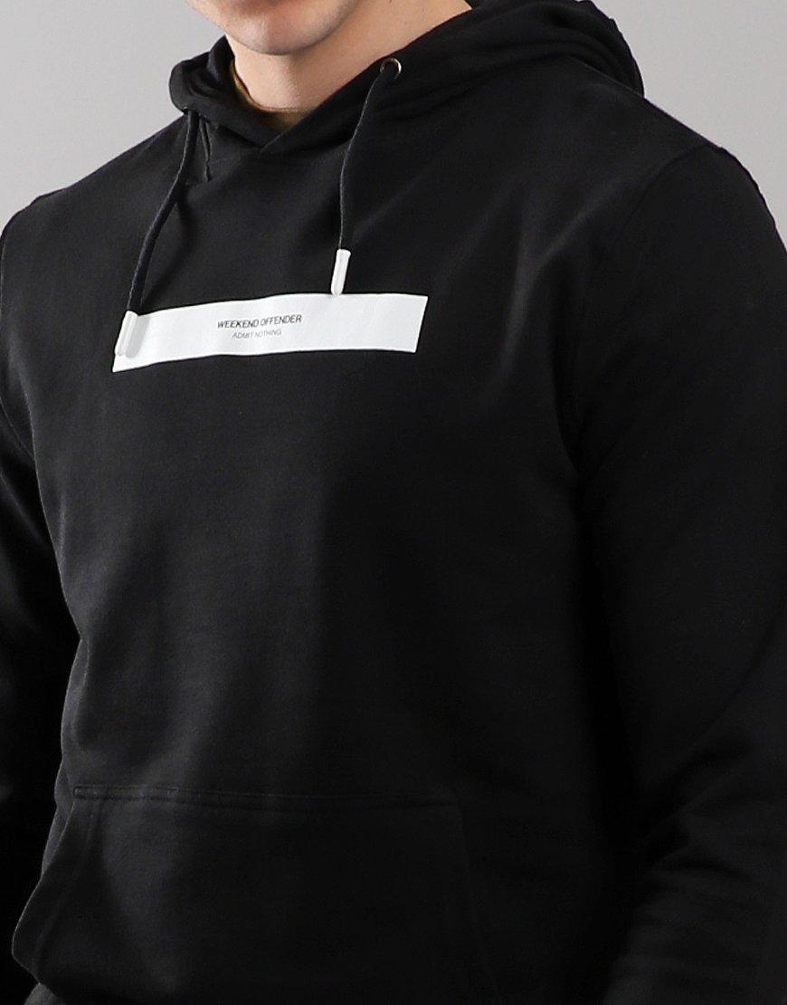 2b09d8e94405 Weekend Offender Caplan Hoodie Black - Terraces Menswear