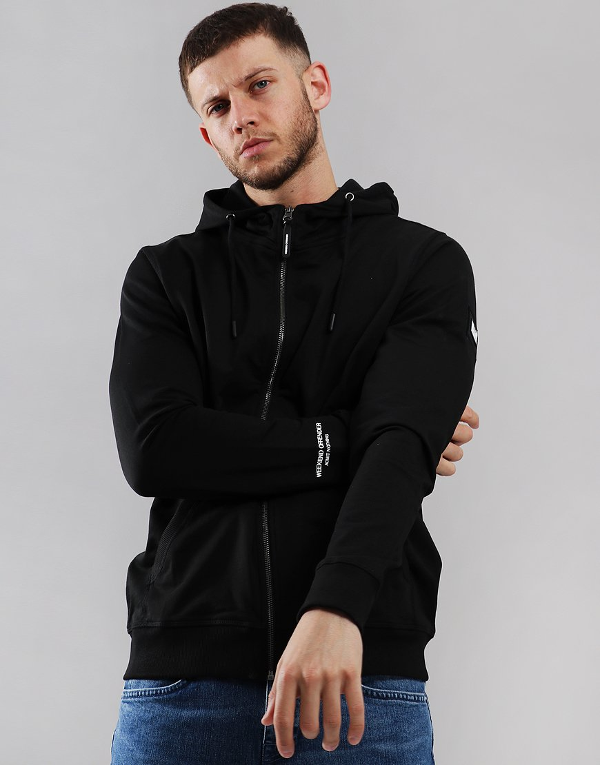 Weekend Offender Carmine Zip Sweat Black