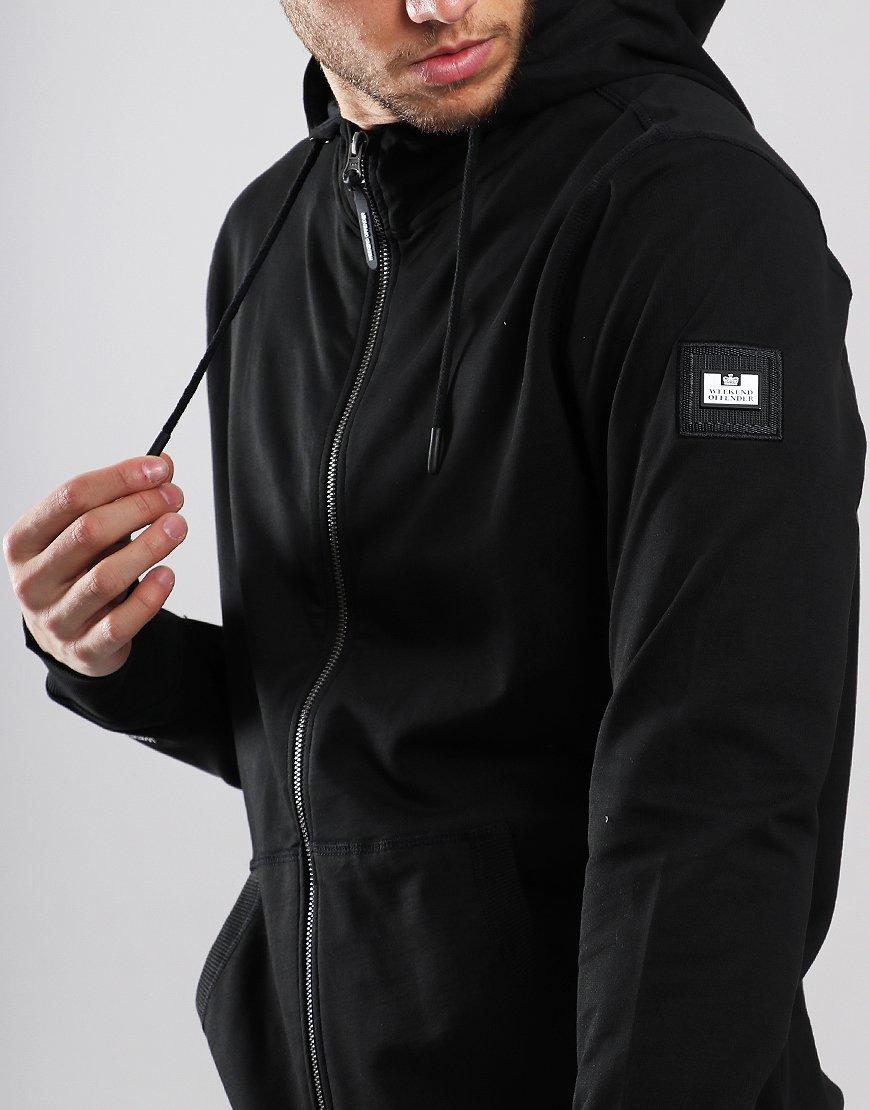 ee2f944d36cb Weekend Offender Carmine Zip Sweat Black - Terraces Menswear