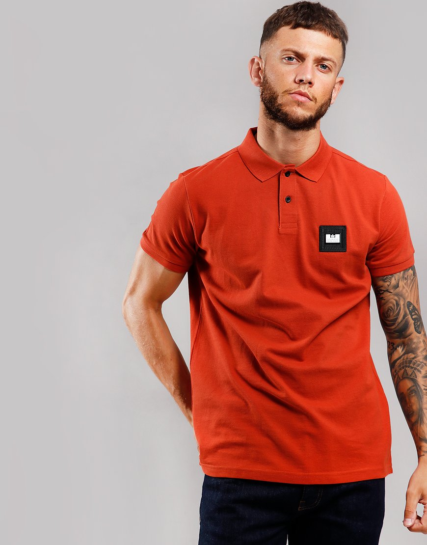 Weekend Offender Colombia Polo Shirt Cinnamon