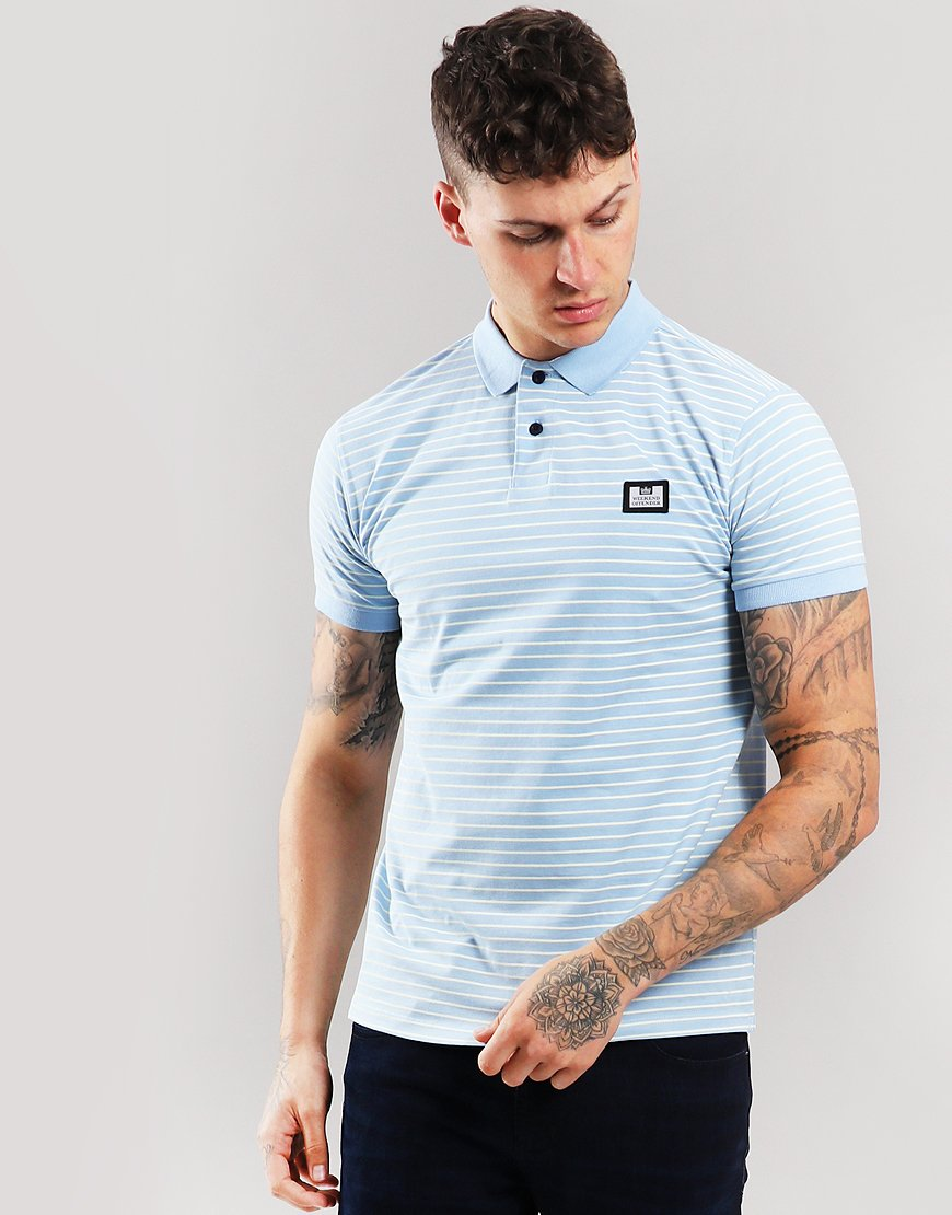 Weekend Offender Ervin Polo Shirt Sky/White