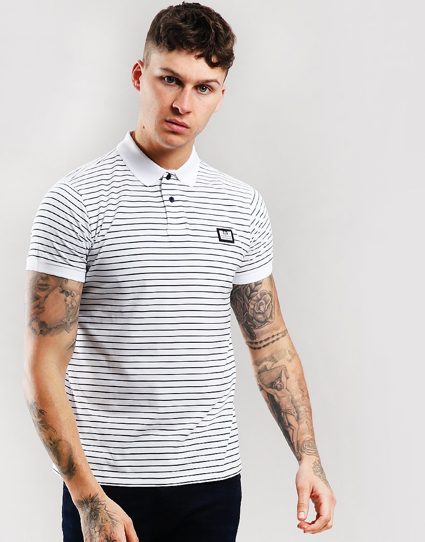 Weekend Offender Ervin Polo Shirt White/Navy