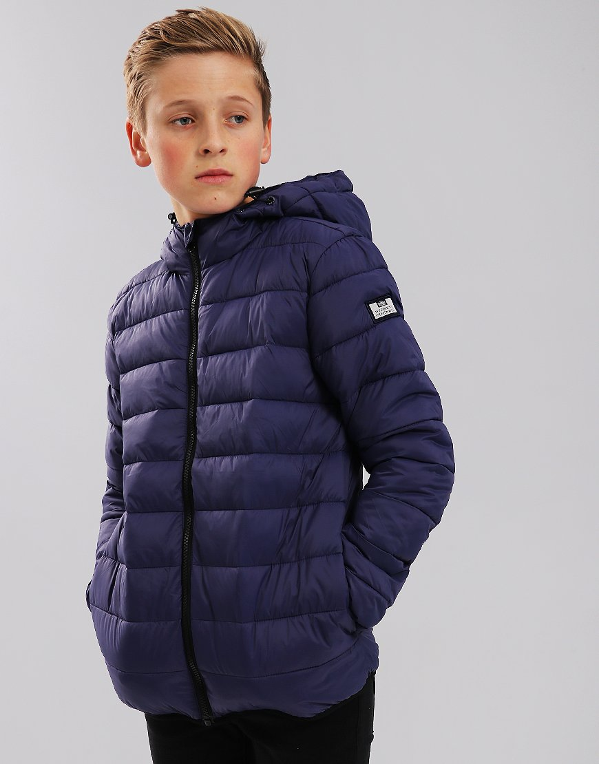 Weekend Offender Kids Frazier Quilted Jacket Light Navy