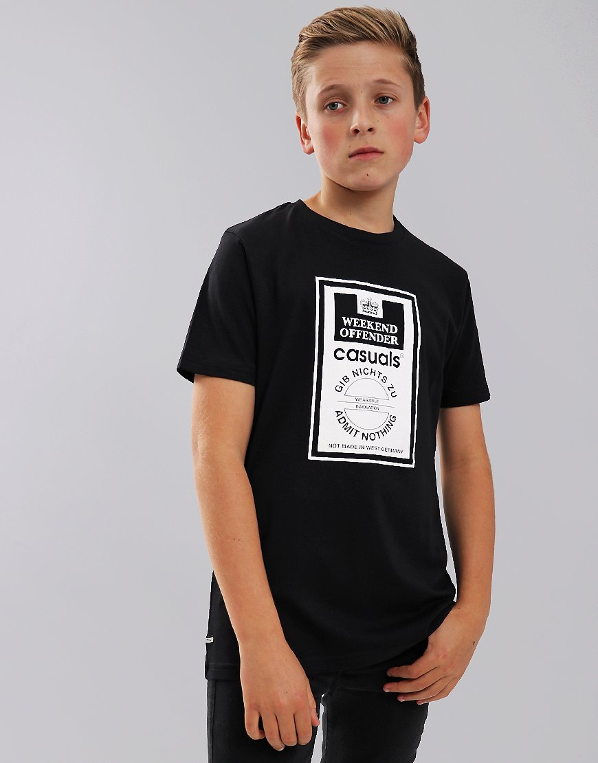 Weekend Offender Kids Gib Nichts Zu T-Shirt Black