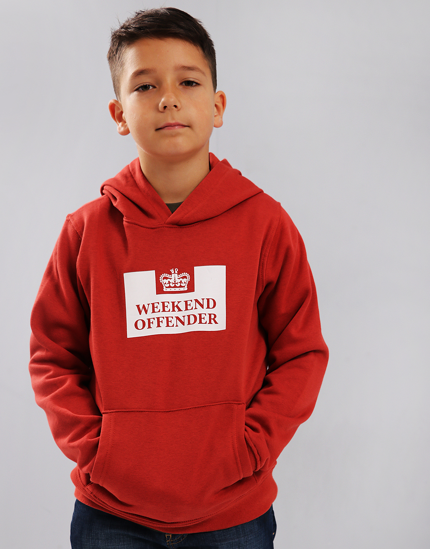 Weekend Offender Kids HM Service Hoodie Rust