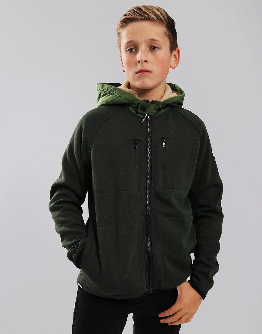 Weekend Offender Kids McClarnin Hooded Fleece Spruce