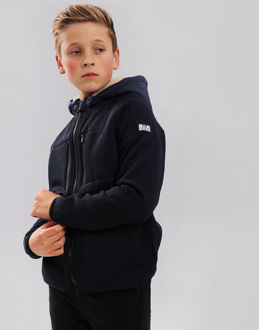 Weekend Offender Kids McClarnin Hooded Fleece Navy