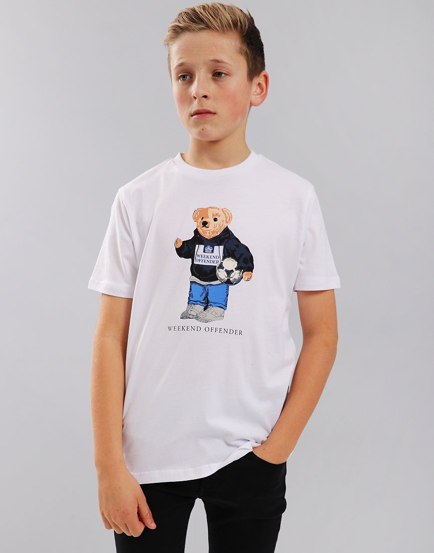 Weekend Offender Kids Prison Bear T-Shirt White