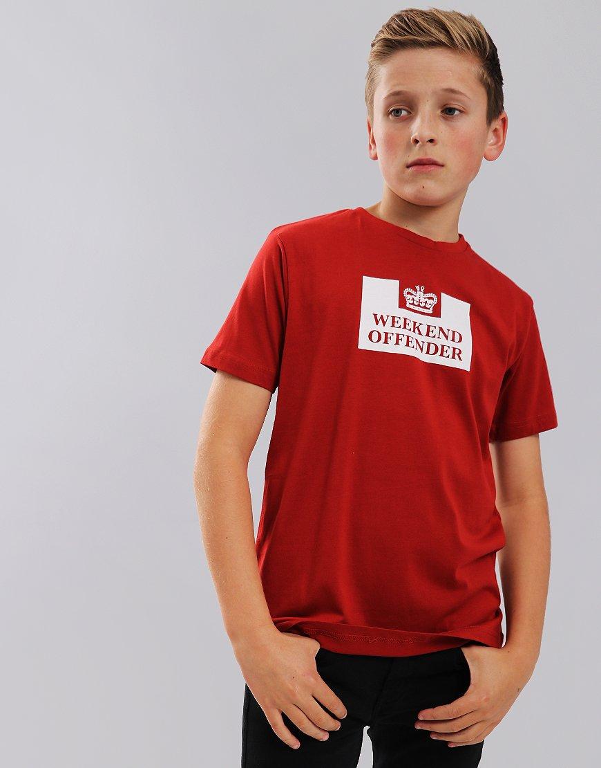Weekend Offender Kids Prison T-Shirt Rust