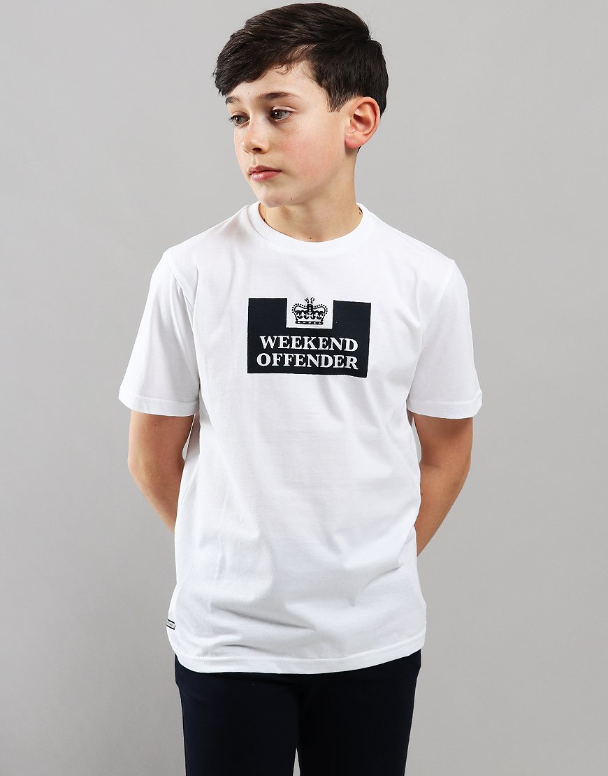 Weekend Offender Kids Prison T-Shirt  White