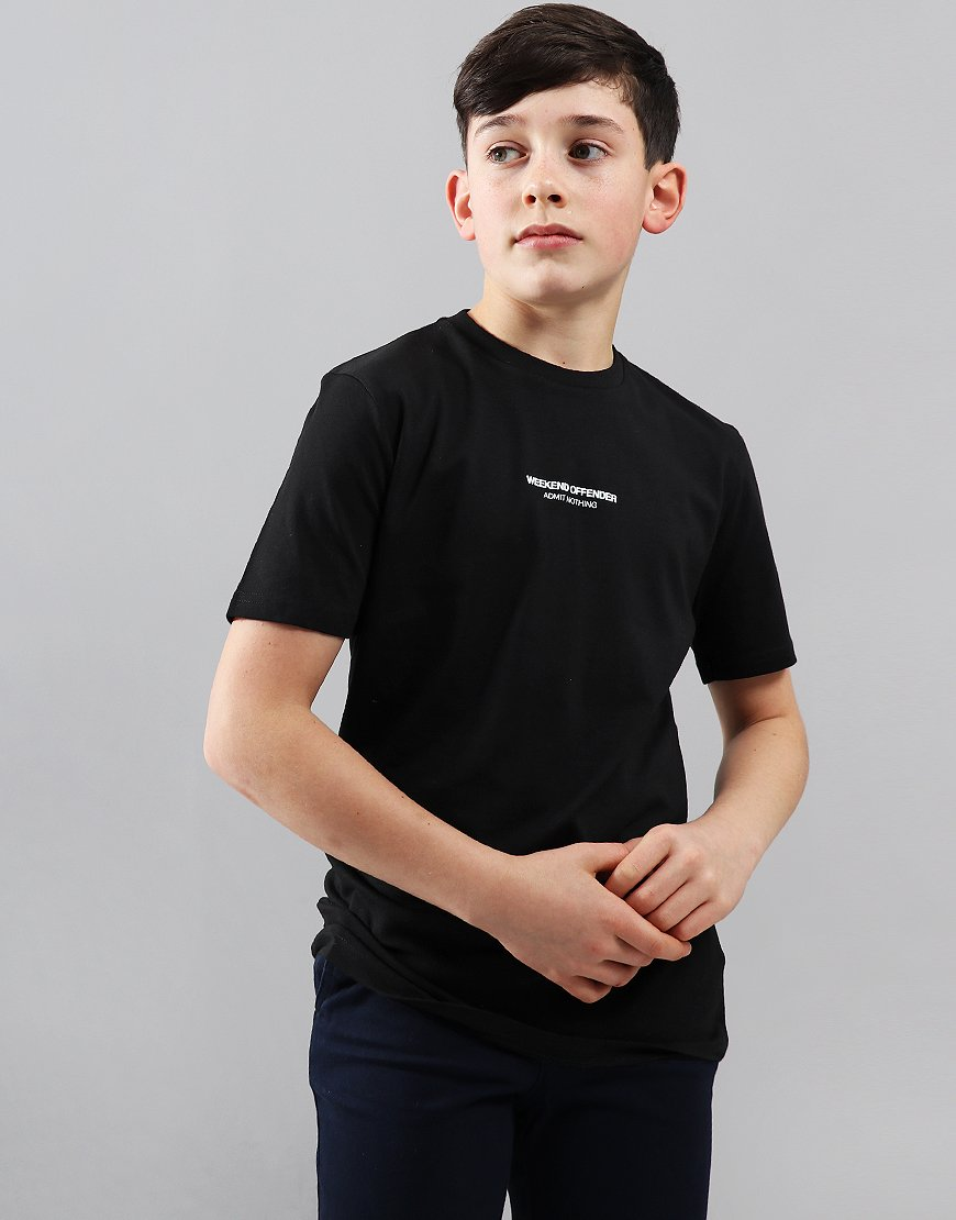 Weekend Offender Kids Zavaretti T-Shirt Black