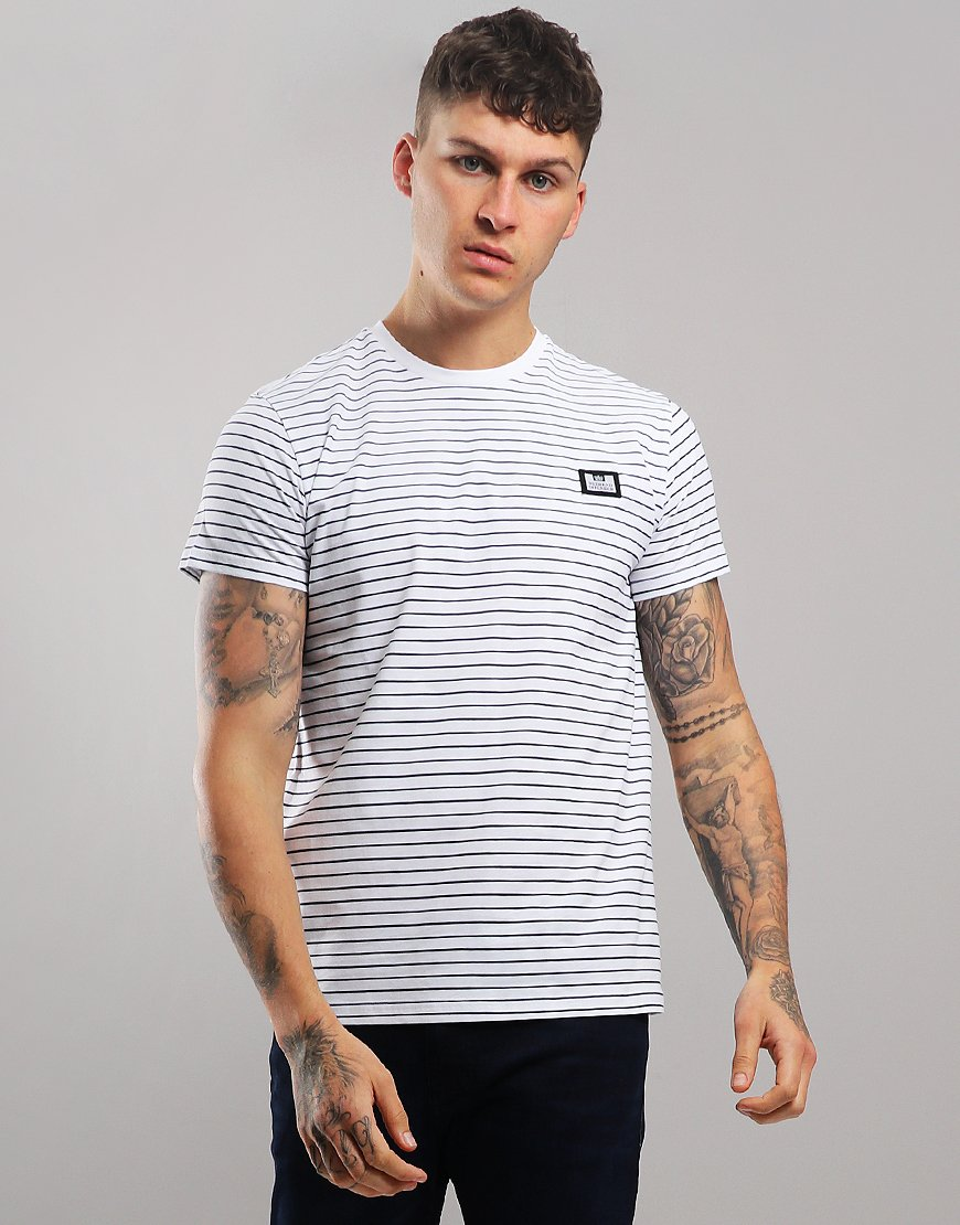 Weekend Offender Lester T-Shirt White/Navy