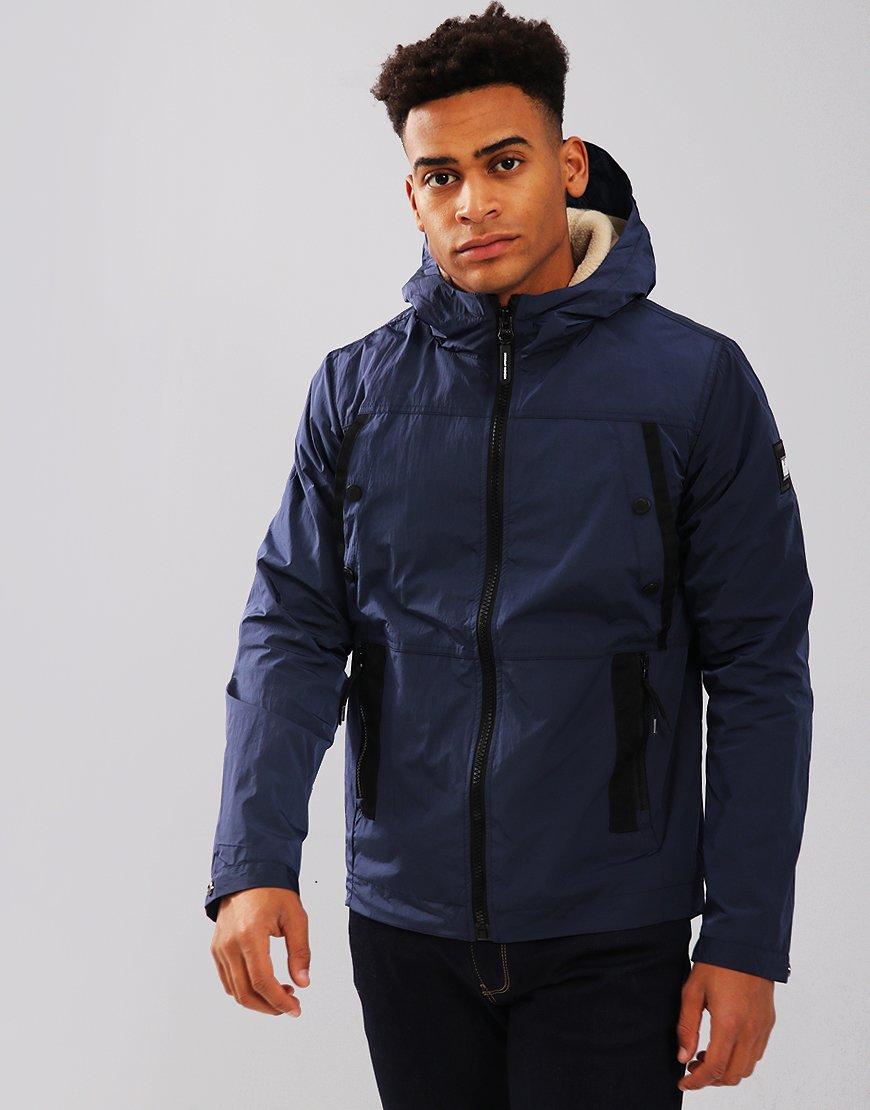 Weekend Offender Terraces Menswear Zipper Hoodie Polos Young Grey Liston Jacket Navy