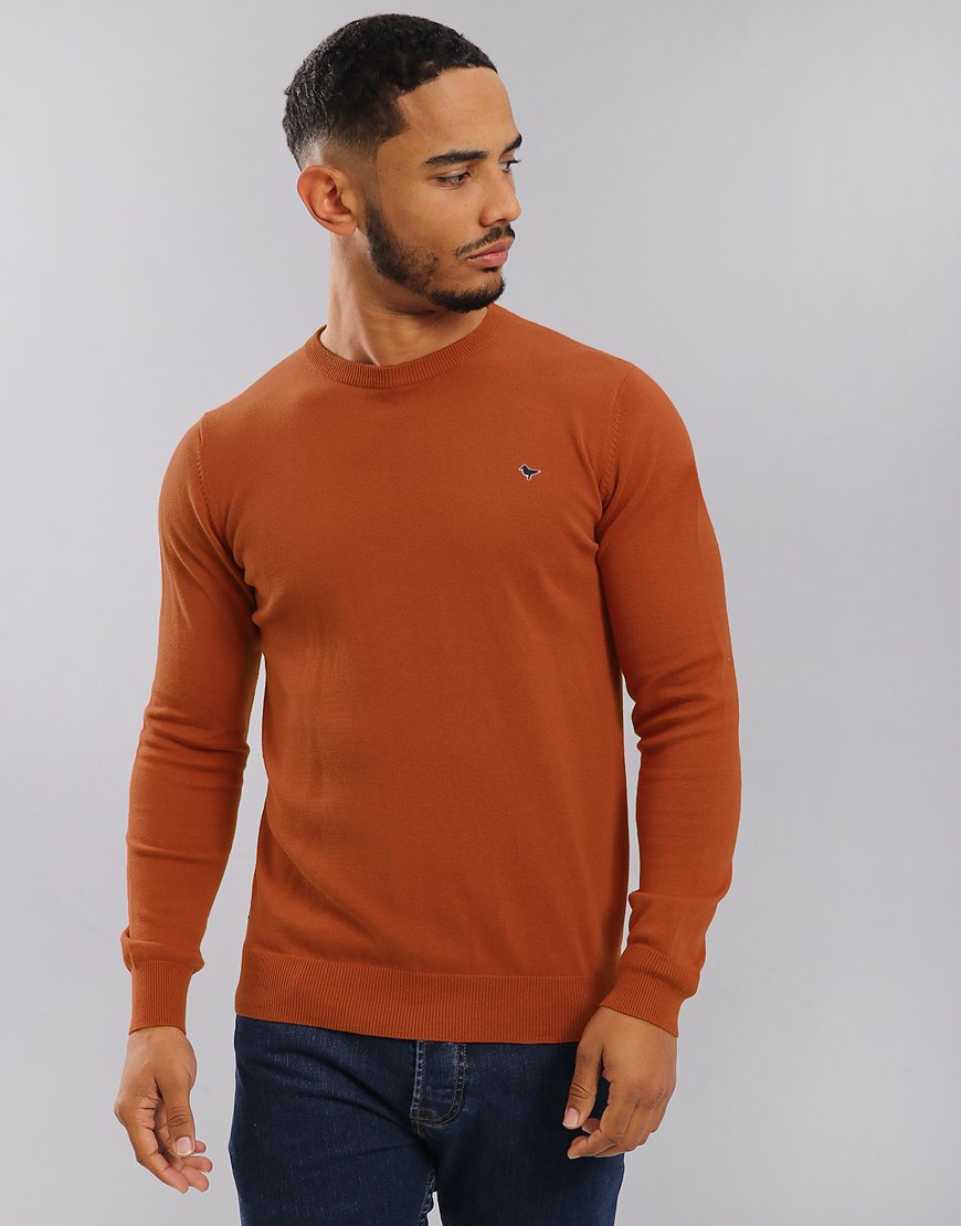 Weekend Offender Mitchell Crew Neck Knit Mustard