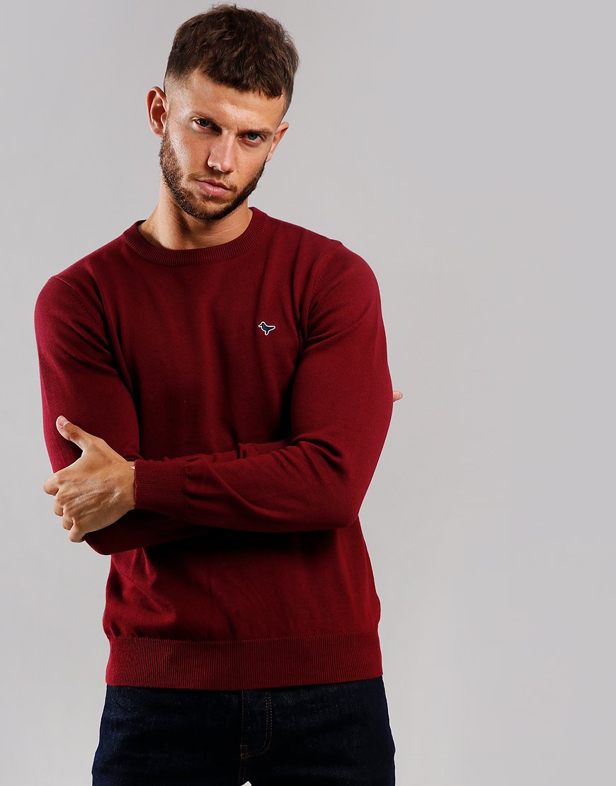 Weekend Offender Napoli Crew Neck Knit Deep Berry