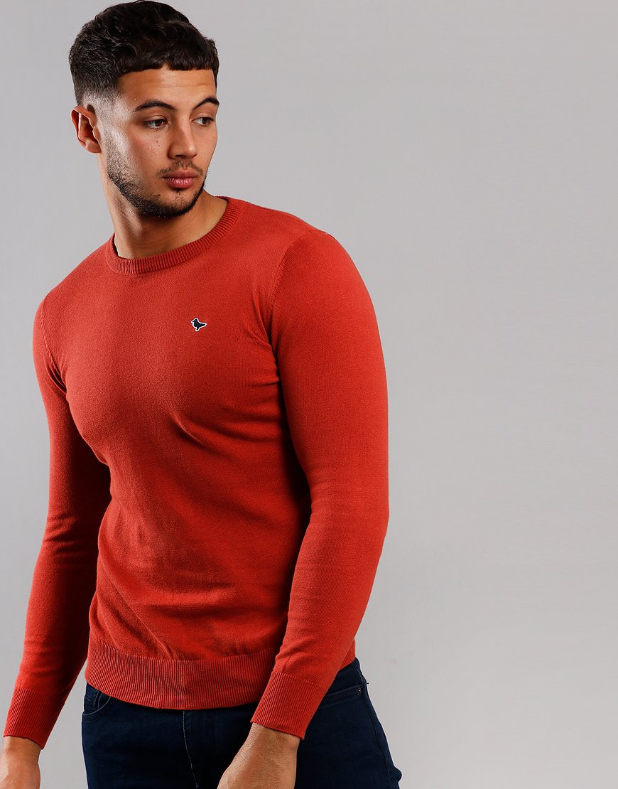 Weekend Offender Napoli Crew Neck Knit Red Rust