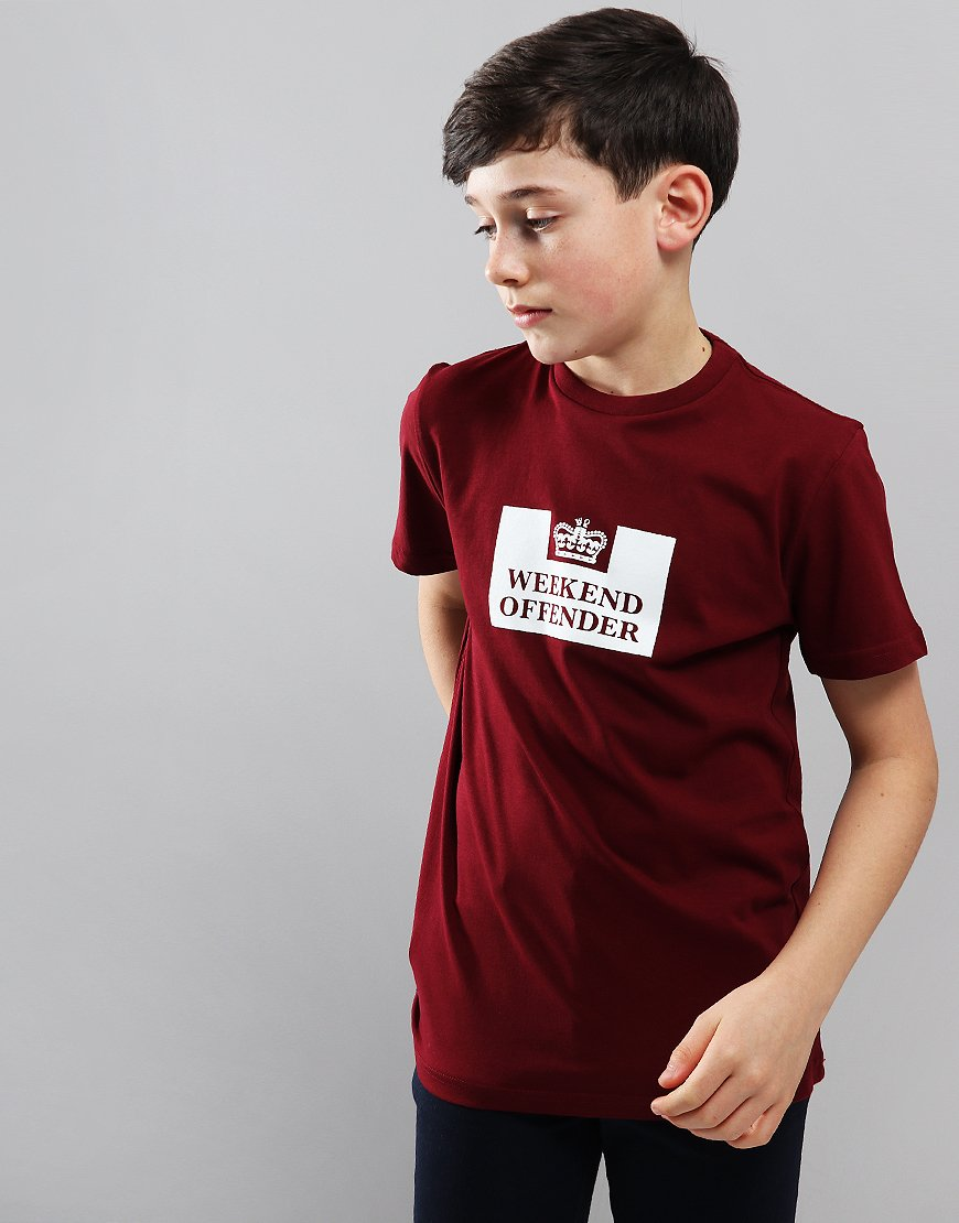 Weekend Offender Kids Prison T-Shirt Garnet