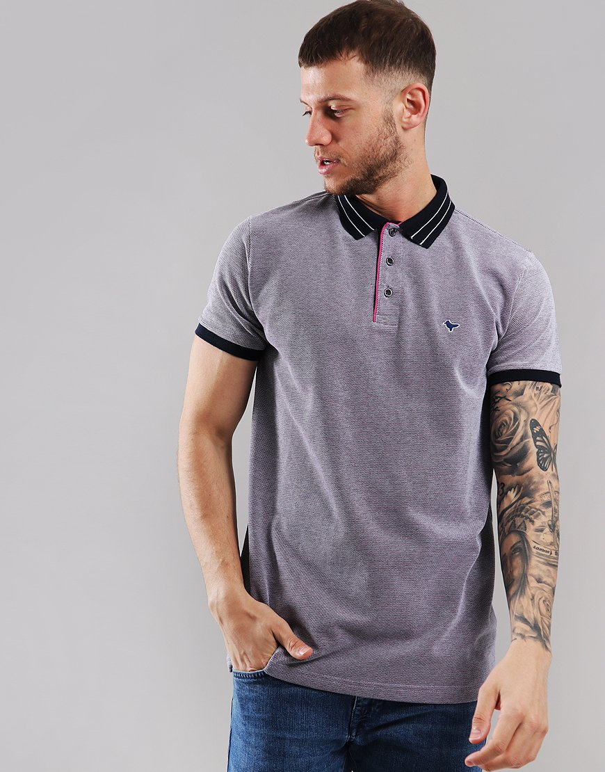 Weekend Offender Sacchettino Polo Shirt Navy/White/Fuschia