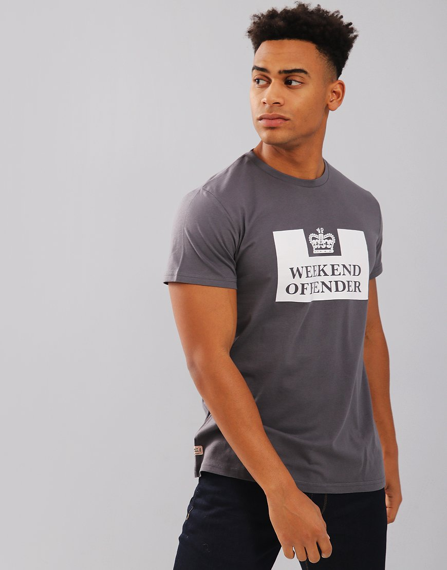 Weekend Offender Saxthorpe T-Shirt Charcoal