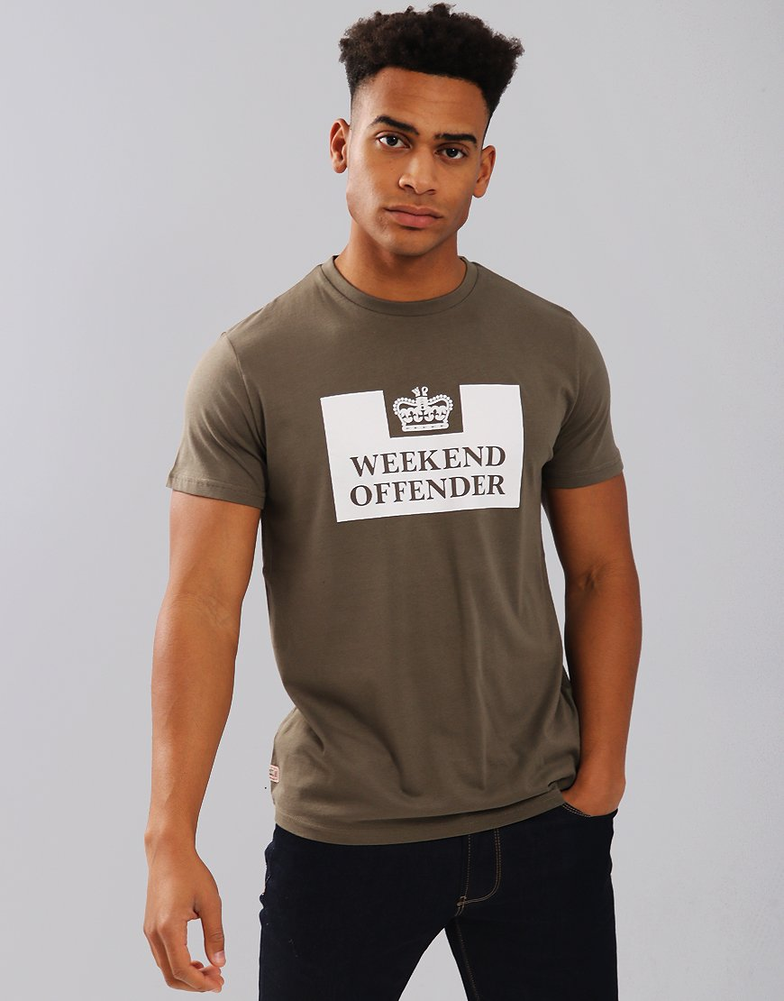Weekend Offender Saxthorpe T-Shirt Khaki