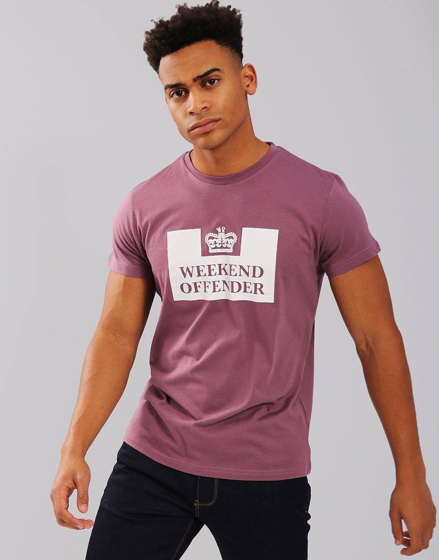 Weekend Offender Saxthorpe T-Shirt Plum