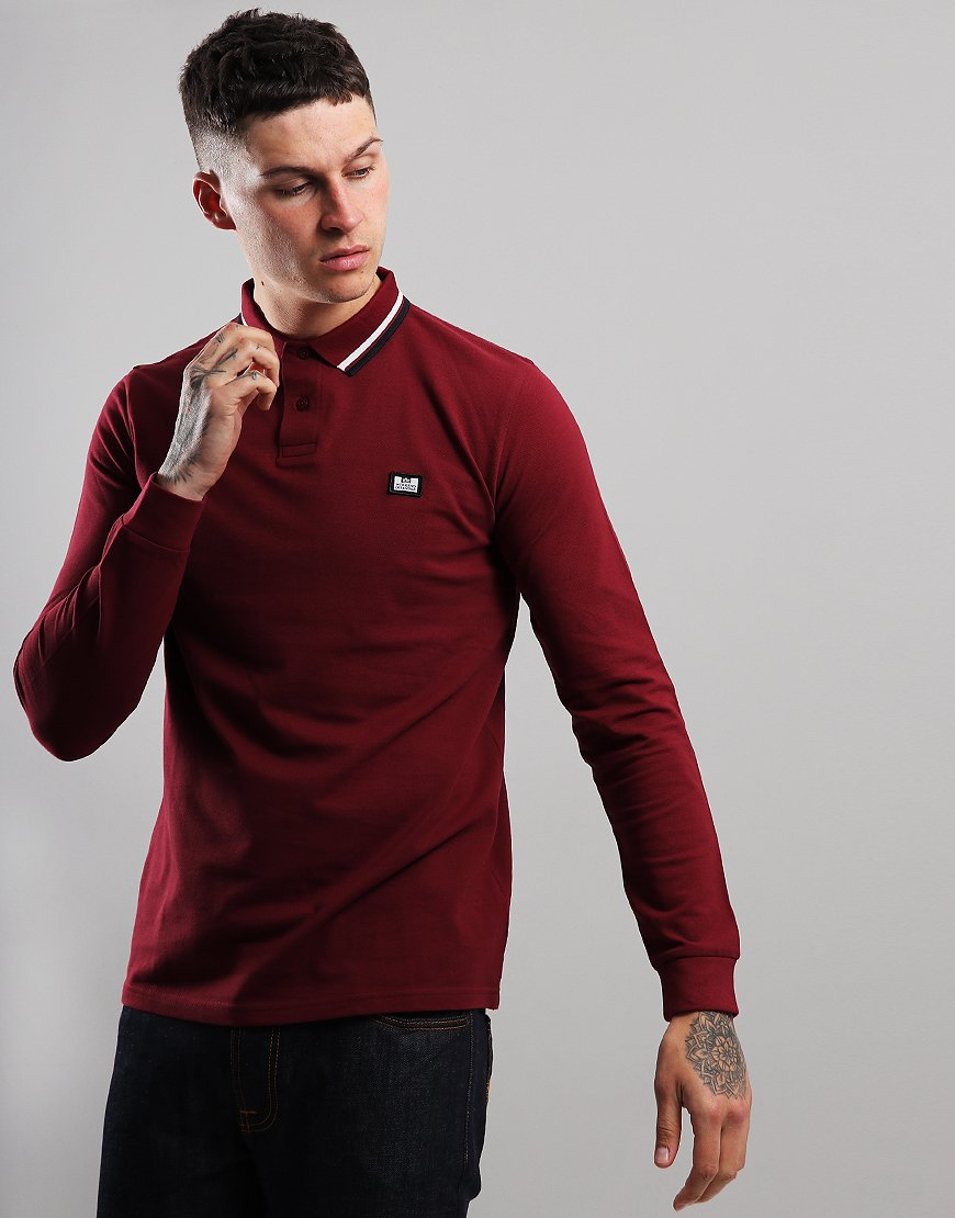 Weekend Offender Scooterman Polo Shirt Burgundy