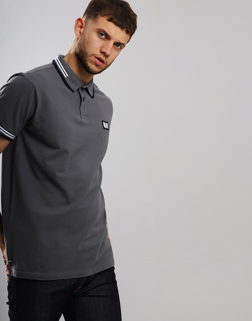 ab955fb8 Weekend Offender Buzoni Polo Shirt Charcoal - Terraces Menswear
