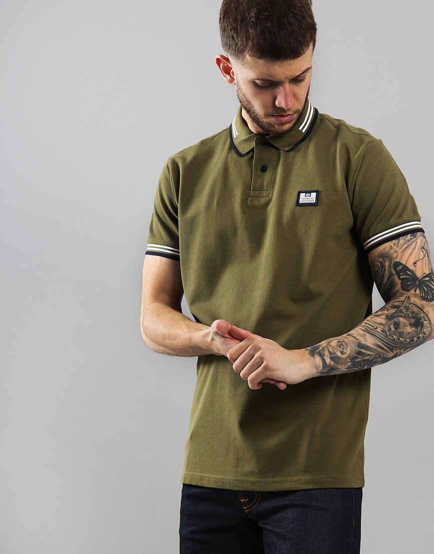 Weekend Offender Buzoni Polo Shirt Dark Khaki