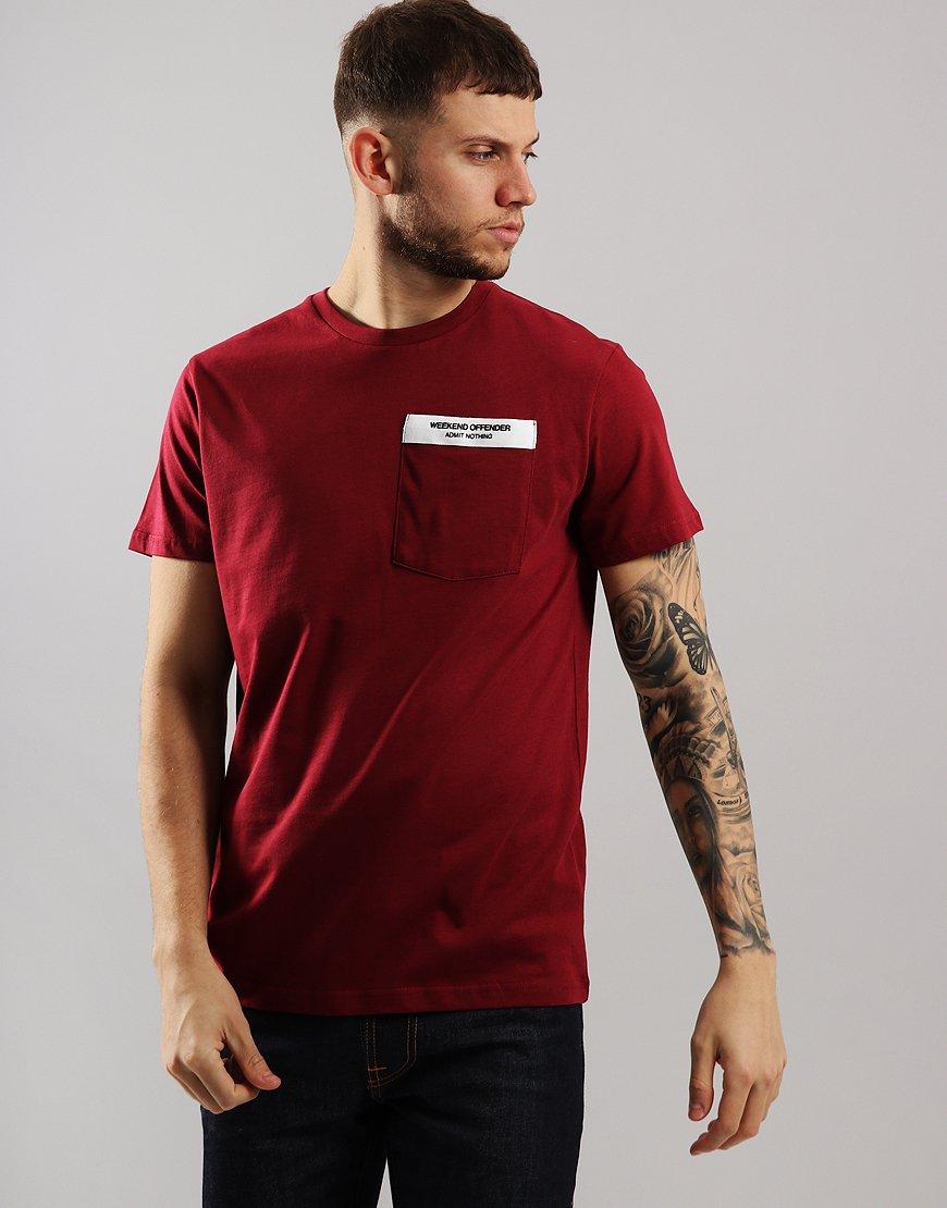 Weekend Offender Myra T-Shirt Garnet