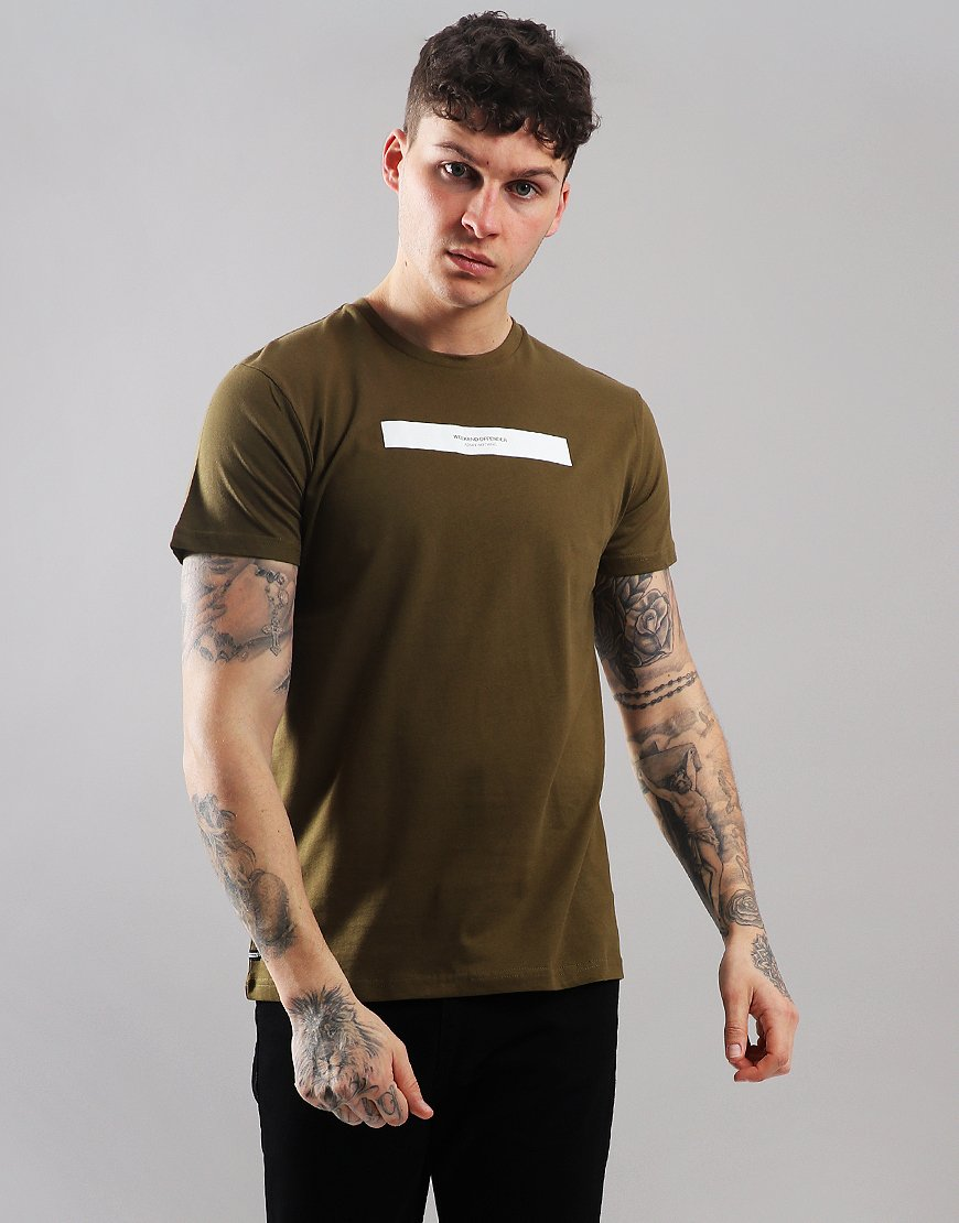 7338a439e7fd Weekend Offender Suerte T-Shirt Dark Khaki - Terraces Menswear