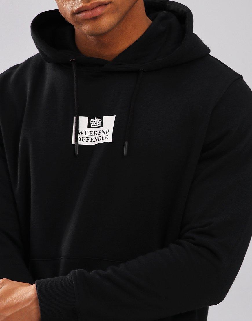 03de59dff374 Weekend Offender Tunney Hoodie Black - Terraces Menswear