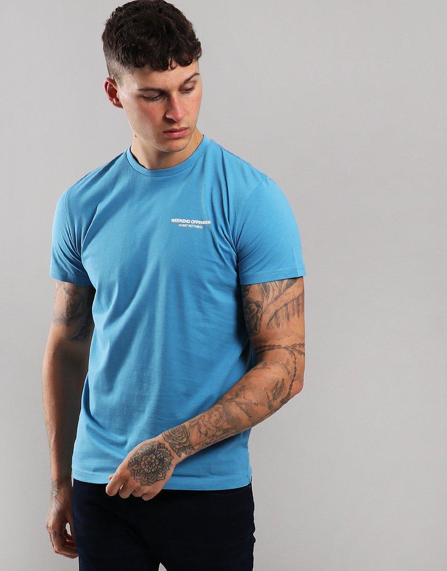 Weekend Offender Barkside T-Shirt Blue Steel