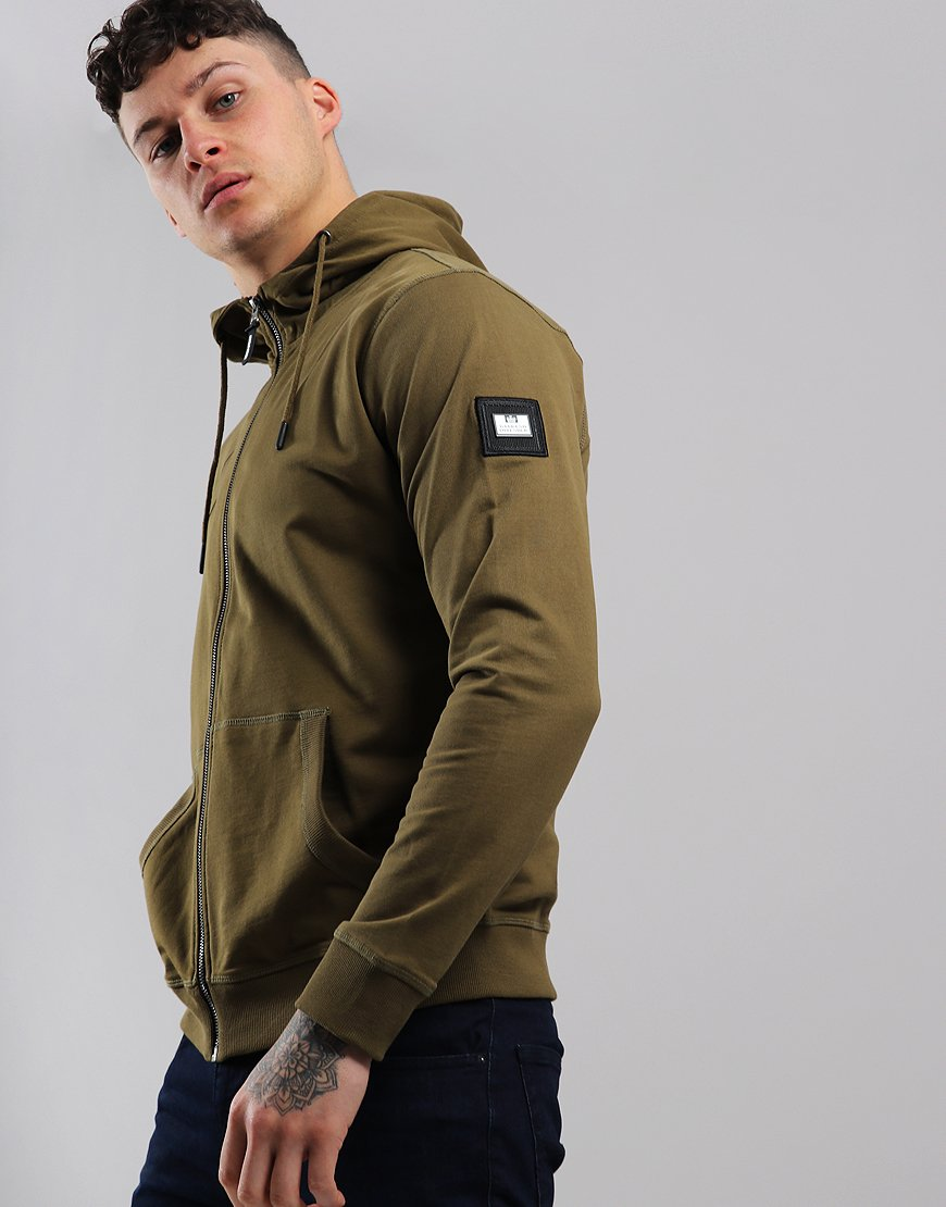 Weekend Offender Carmine Zip Sweat Conifer